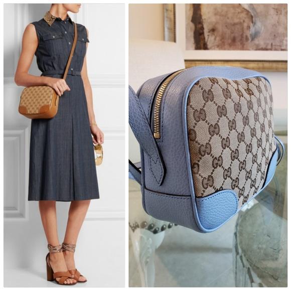 4e654f2b689 Gucci Handbags - Gucci Bree Crossbody GG Supreme Beige Tan Canvas